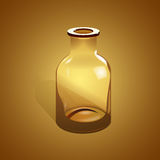 Empty glass bottle. vector design Royalty Free Stock Photo
