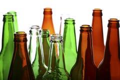 Empty glass bottles Stock Photo