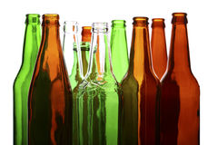 Empty glass bottles Stock Photography