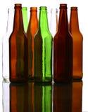 Empty glass bottles Stock Photography