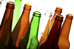 Empty glass bottles Royalty Free Stock Images