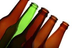 Empty glass bottles Stock Photos