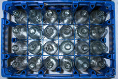 Empty glass bottles Stock Images