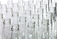 Empty glass bottles. Close up on a white background Royalty Free Stock Photography