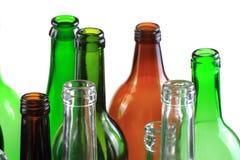 Empty glass bottles isolated Stock Photos