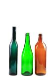 Empty glass bottles isolated Royalty Free Stock Image