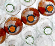 Empty glass bottles Royalty Free Stock Photography