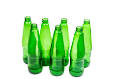 Empty glass bottles Royalty Free Stock Photos