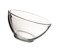 Empty glass bowl isolated on white background Royalty Free Stock Images