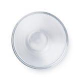 Empty glass bowl Stock Photos