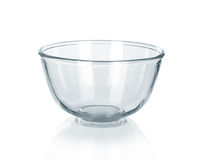 Empty glass bowl Royalty Free Stock Image