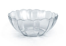 Empty glass bowl Stock Photography