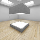 Empty glass box. In art gallery. 3D illustration Royalty Free Stock Images