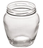 Empty glass can. Stock Photo