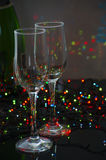 Empty glass champagne glasses Royalty Free Stock Image