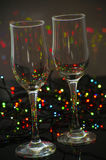 Empty glass champagne glasses Royalty Free Stock Photography