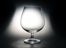 Empty glass. Clear glass on black background Stock Images