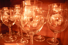 Empty glass collection Stock Images