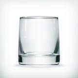 Empty glass. Computer illustration on white background Stock Photos