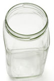 Empty glass container Royalty Free Stock Photography