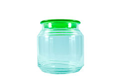Empty glass container Stock Photos