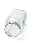 Empty glass container Royalty Free Stock Image