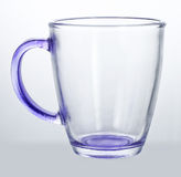 Empty glass cup. On white background royalty free stock images