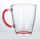 Empty glass cup Stock Photos