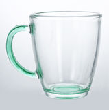 Empty glass cup. On white background Stock Image