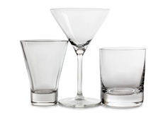 Empty glass cups Royalty Free Stock Image