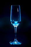 Empty glass. With dark background Royalty Free Stock Photos
