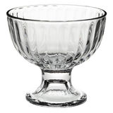 Empty glass dessert bowl Stock Images
