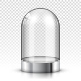 Empty glass dome. Isolated vector illustration