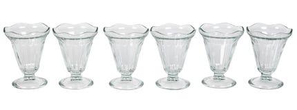 Empty glass ice cream Stock Images
