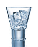 Empty glass with ice cubes Royalty Free Stock Photo