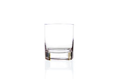 Empty glass isolatd on white Stock Images