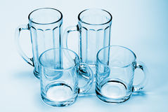 Empty glass isolated Royalty Free Stock Photography