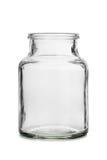 Empty glass jar Stock Image
