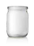 Empty glass jar  Royalty Free Stock Photos