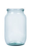 Empty glass jar. Stock Image