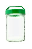 Empty glass jar Stock Image