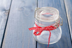 Empty glass jar Stock Photos