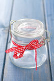 Empty glass jar Royalty Free Stock Photography