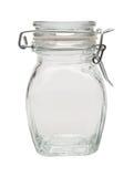 Empty glass jar Stock Photos