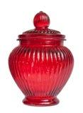 Empty glass jar isolated. Royalty Free Stock Photo