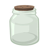 Empty glass jar isolated illustration Royalty Free Stock Photos