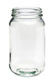 Empty glass jar isolated on a white background Royalty Free Stock Images