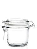 Empty glass jar isolated Stock Photography