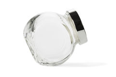Empty glass jar with lid Royalty Free Stock Photography