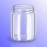 Empty glass jar mockup  Stock Image